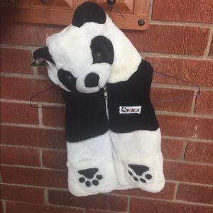 Panda hood toddler vest